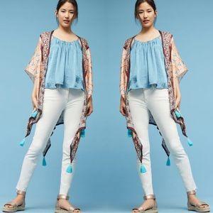 "Anthropologie ""Lynnie"" Tasseled Kimono Scarf NWT"